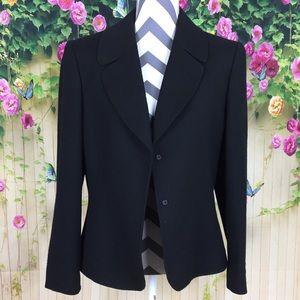Tahari A. S. L. Black Tweed Blazer Size 14